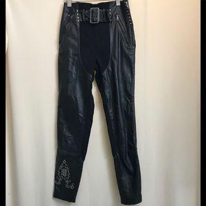 Harley-Davidson Leather & Spandex Motorcycle Pants
